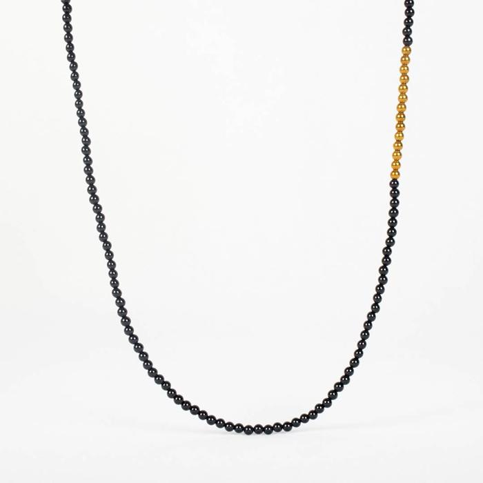 گردنبند سنگ دو رنگ انیکس و هماتيت